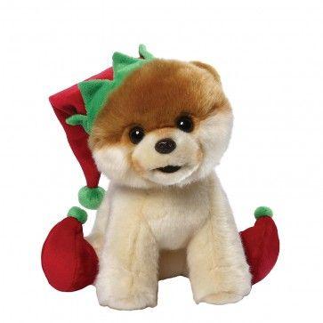 Cachorrinho de Pelúcia Filhote de Lulu da Pomerânia (Spitz Alemão) Gund Itty Bitty Boo – Duende  O cãozinho mais fofo do mundo estiloso ajudante de Papai Noel!