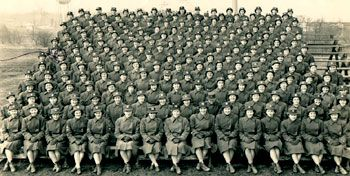 Women in the US Military - WWII: Women's Army Corps  WAC training class at Ft. Des Moines, Iowa.