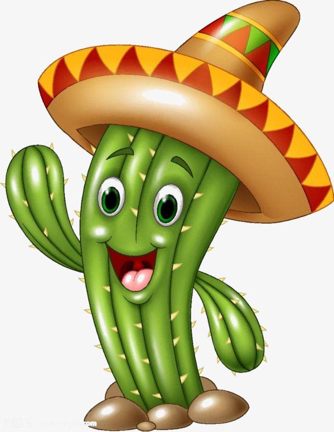Version En Dibujos Animados Del Cactus Cactus Cartoon Sombrero Png Image And Clipart Fiestas Patrias De Mexico Dibujos Sombrero Mexicano