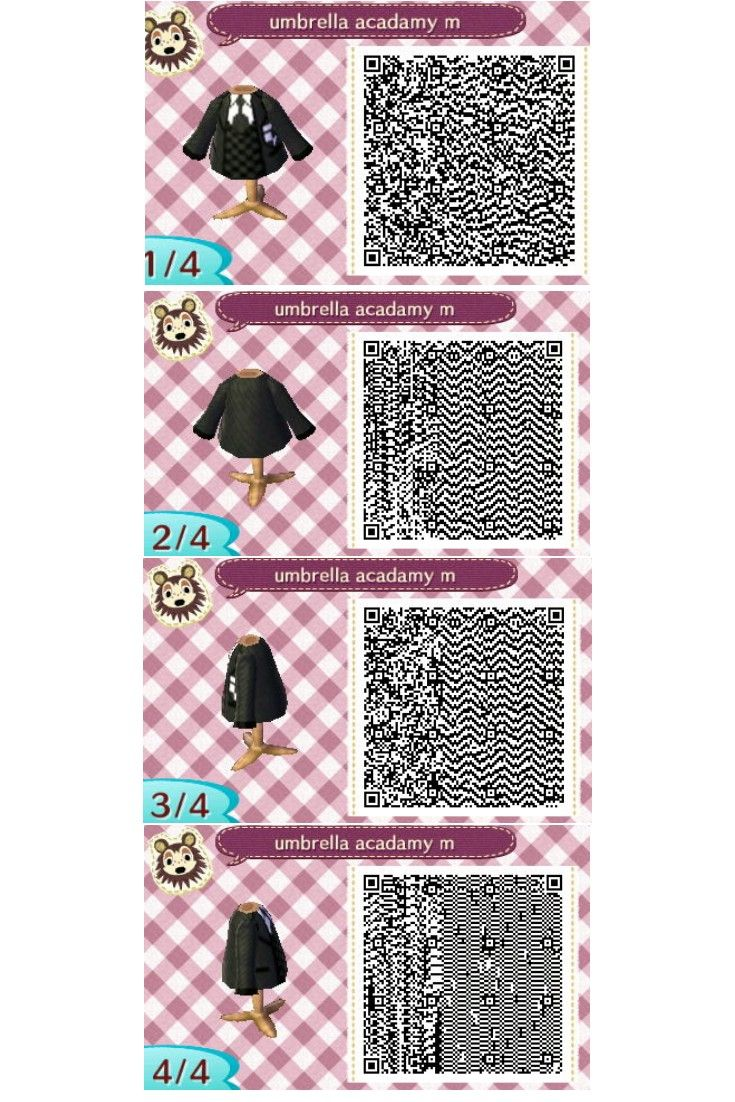 Animal Crossing New Leaf Qr Code For Male Uniform From Umbrella
