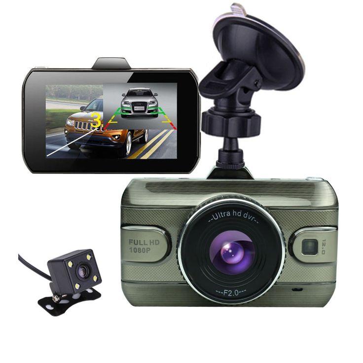 2017 جديد 3.0 بوصة عدسة مزدوجة سيارة dvrs سيارة كامل hd 1080 وعاء dvr كاميرا فيديو مسجل سيارة داش كاميرا دعم كاميرا الرؤية الخلفية
