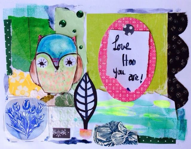 Uplifting Words and Art: Day 122 - love who you are - owl quote