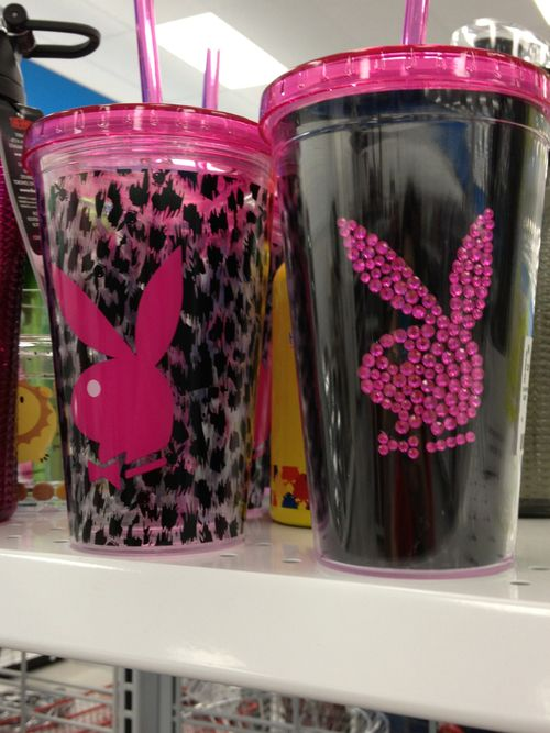 I thought of my cousin because she loves play boy bunny logos! XD