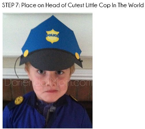 DIY Kids Police Hat Using Construction Paper