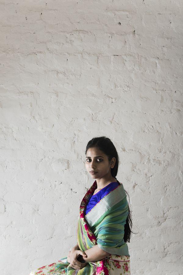 fagun saree worn with chameli petticoat
