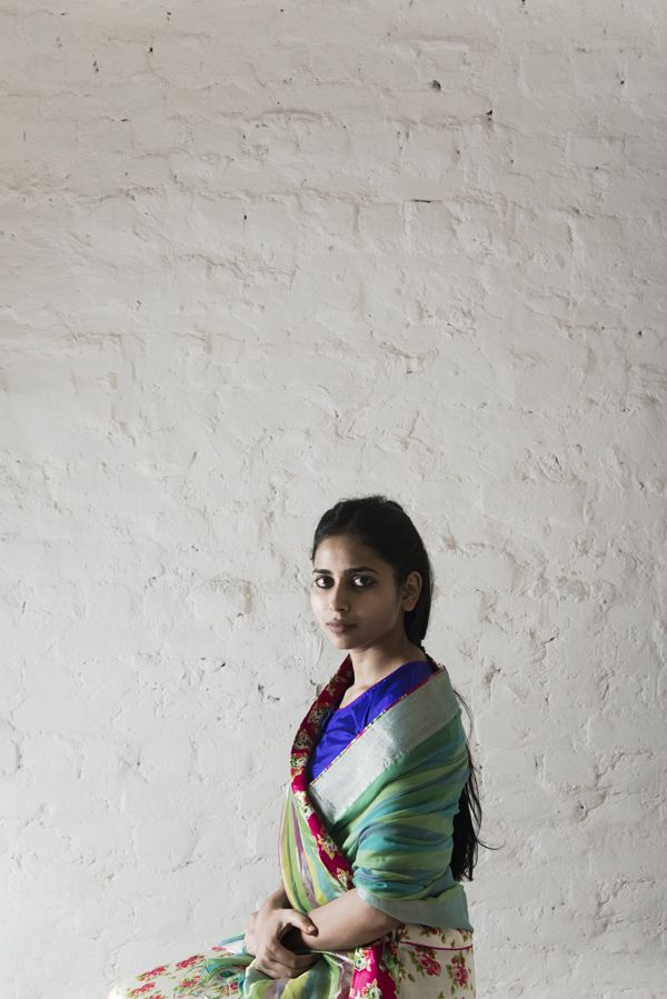 fagun saree worn with chameli petticoat
