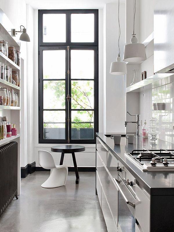 Paris Urban Galley Kitchen, Remodelista