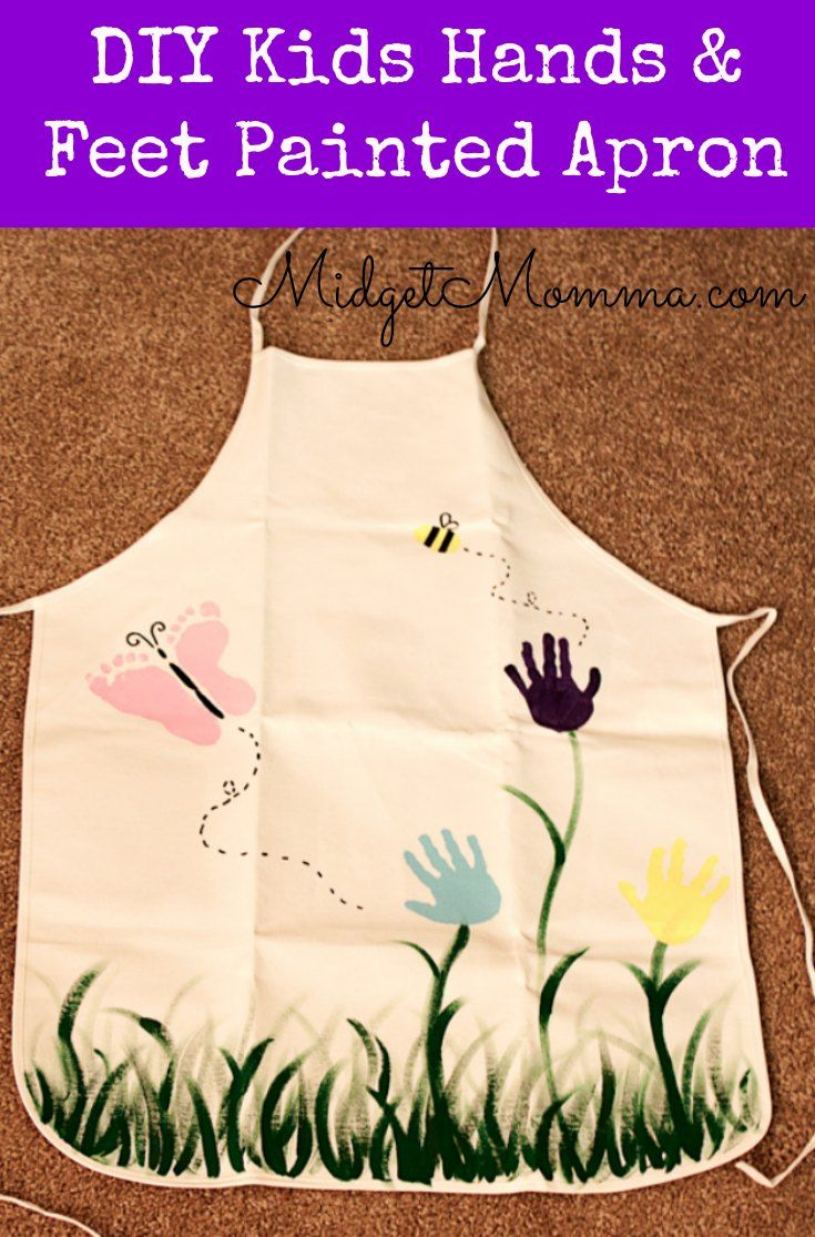 Garden Of Love Apron with Painted Kids hands and feet is an awesome Personalized gift. Using the kids adorable little feet and hands this apron is the perfect gift! Easy to make too!