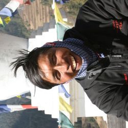 "Meet Krishna Shrestha. ""I born in solukhumbu (Everest region) and finished my high school from Churikharka (gate way of Everest). I walked 5 hours per day during my high school and I had seen many tourist and trekking guide on the way to School. Since these I had dream to be a good guide."""