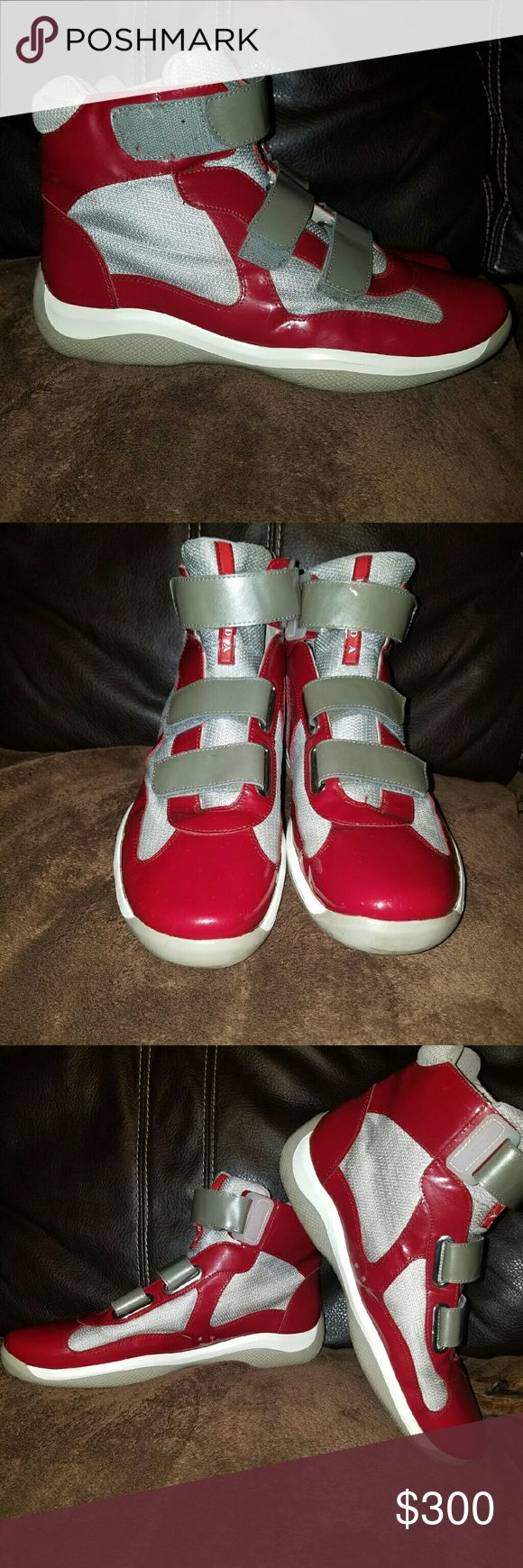 Mens prada high top sneakers Mens high top prada sneakers size 10.5 worn a couple times good condition no box as is Prada Shoes Sneakers