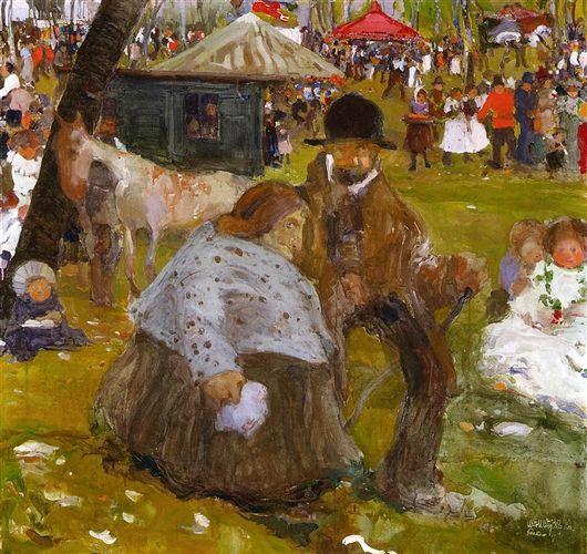 Pentecost Holidlya Fair near Cracow (1906) by Witold Wojtkiewicz