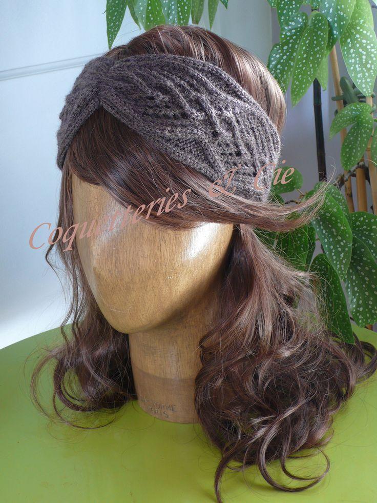 comment tricoter un bandeau cache oreille