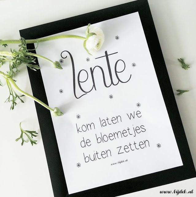 bijdeb: Free printable Lente poster