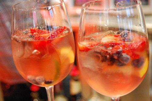 Rosé Sangria Recipe: Add Fruit, Rose Sangria, Cups Slices, Rosé Sangria, Cups Orange, Ros Sangria, Orange Juice, 1 3 Cups, Sangria Recipes