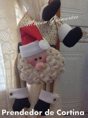 Aprende a Realizar Sujetadores para Cortina de Santa Claus (Moldes) ¡Mucha Creatividad!