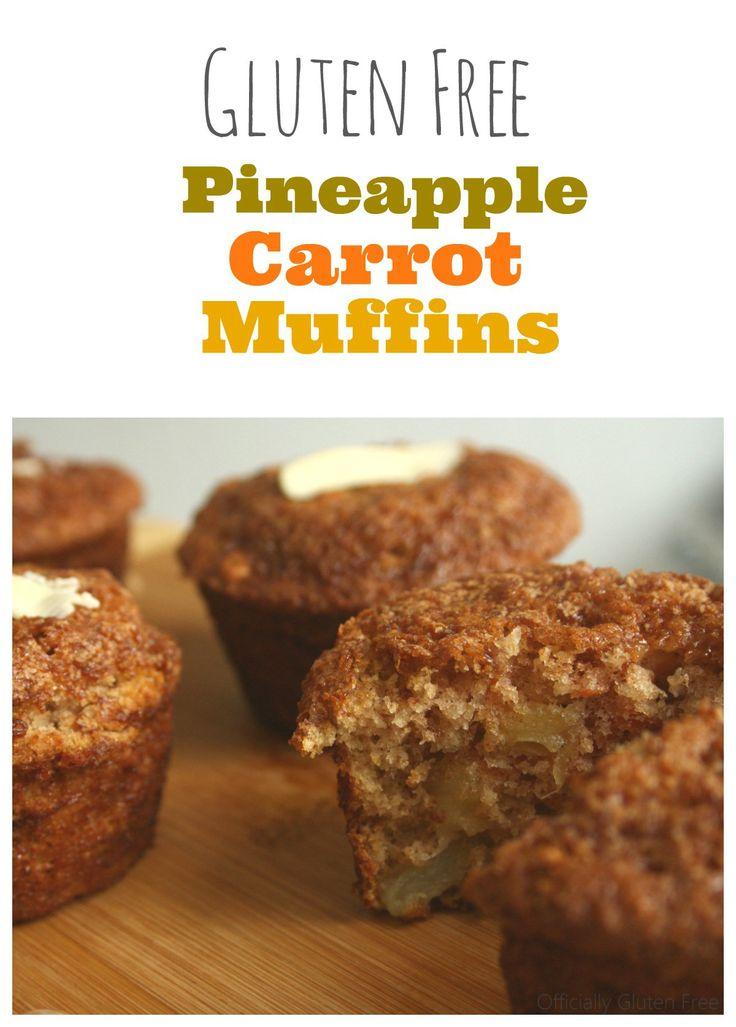 Pineapple Carrot Muffins [Gluten Free]