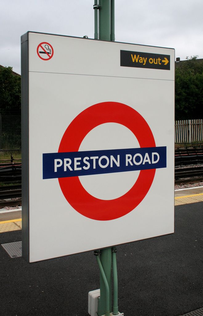 Preston Road London Underground Station in Wembley, Greater London