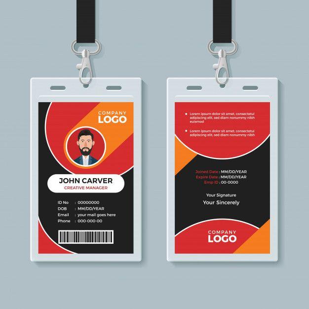 Id Card Template Id Card Template Card Template Cards