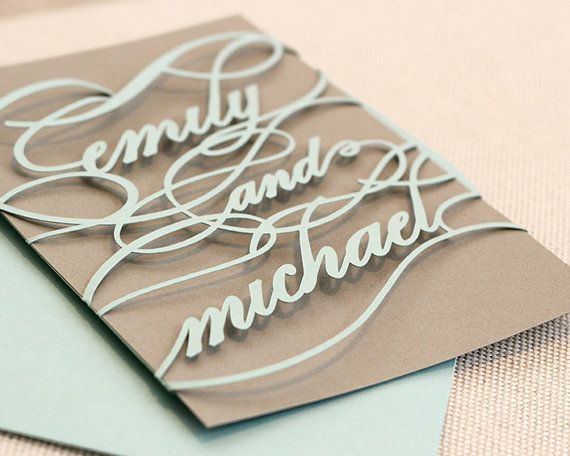 Good Monogram Wedding Invitations Unique Cutout Wrap By TimelessPape