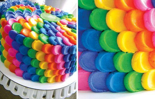Rainbow pétalos