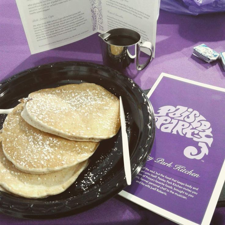 Pancakes! At Paisley Park! (An homage to the epic Dave Chappell skit about Prince, basketball and pancakes.)