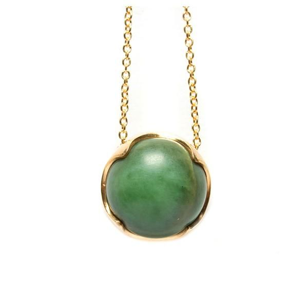 Being Change Pendant 18ct Gold Vermeil + NZ Pounamu greenstone