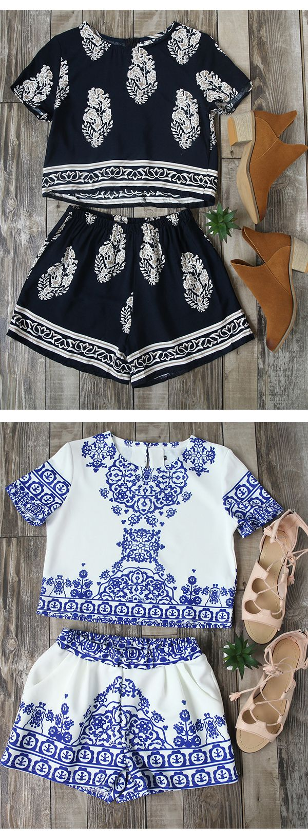 Love this two piece set! Perfect outfits for Summer,Dress it up and you'll be comfy and cute all day long. More surprise at SheIn.com Only need $16.62