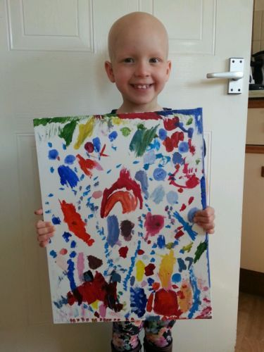 4 year old artist supports Alopecia UK - Good News Shared