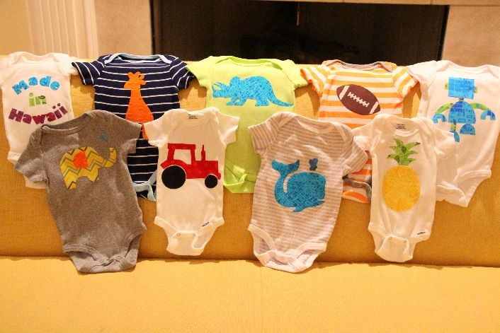 How to set up a onesie making station for a baby shower! Genius!!