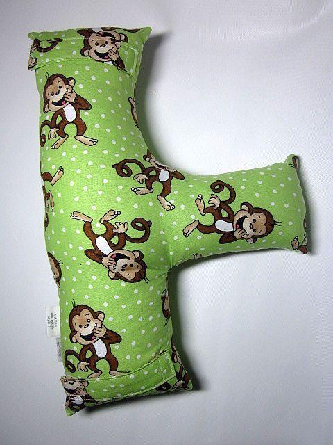 Child's Seat Belt Pillow - Monkeys - by SafferyMoore on Etsy.