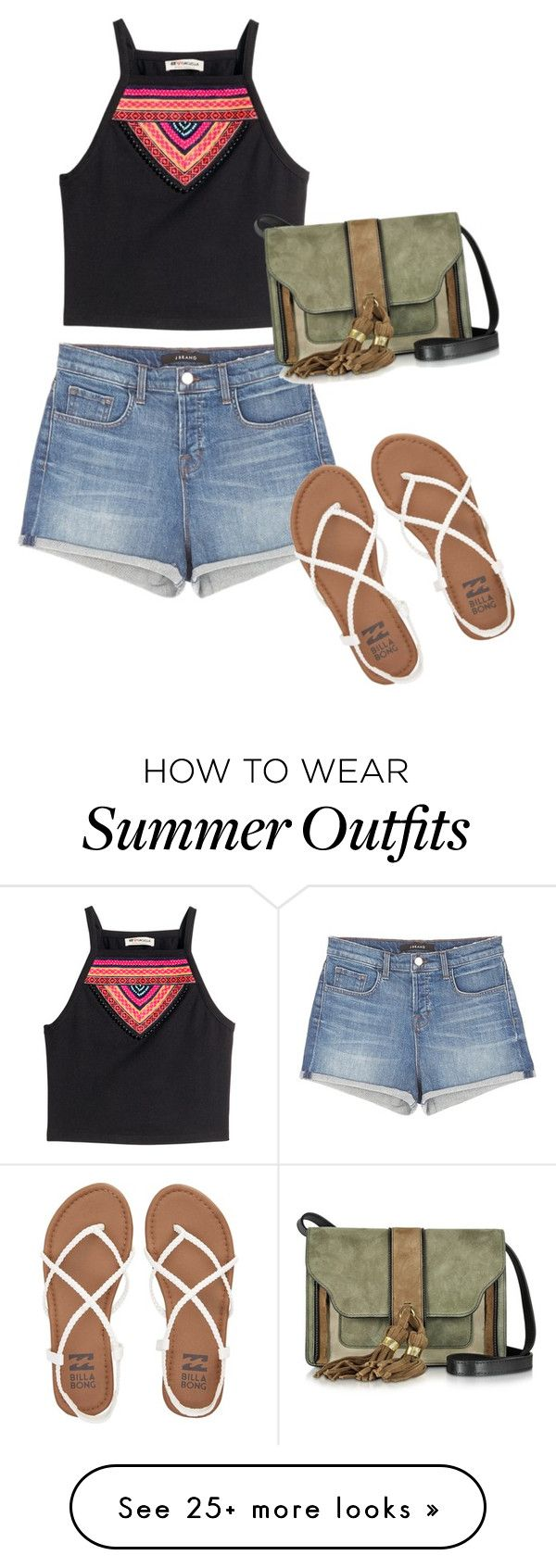 """""""summer outfit"""" by patringmaldita on Polyvore featuring J Brand, Billabong, H&M and L'Autre Chose"""