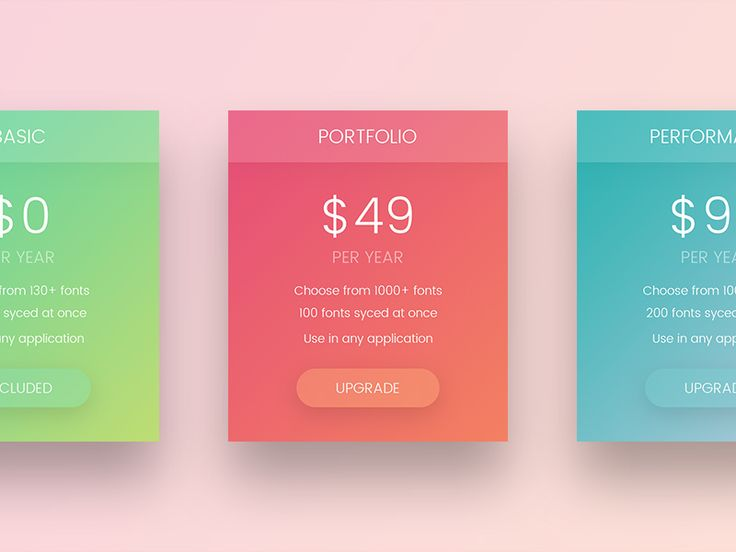 Experimenting and having fun with pricing plans / table.  As always, all likes & feedback are appreciated :)