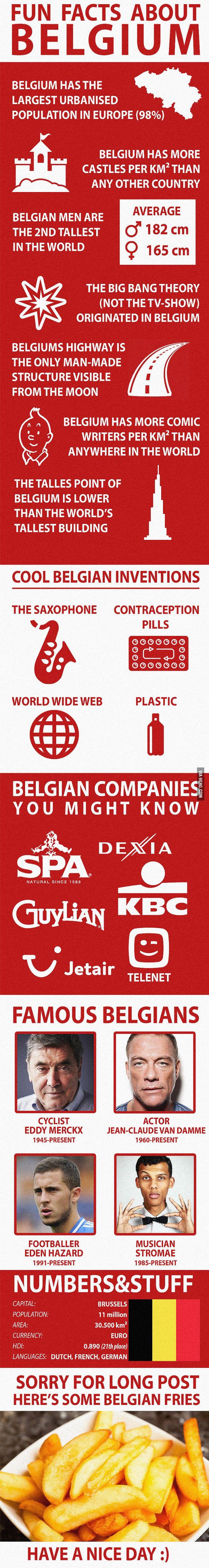 Fun Facts about Belgium - 9GAG