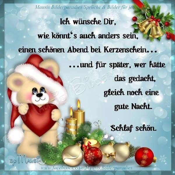 Pin Von Uta Drescher Auf Alles Gute Nacht Gute Nacht Spruche Gedanken Zu Weihnachten