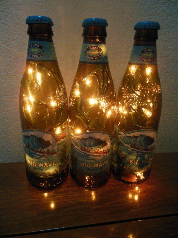 Beer bottle lights 74 pinterest kona brewing beer bottle light big wave golden ale 3 pack white lights lighting accents bar light beer lamp kona brewing light mozeypictures Image collections