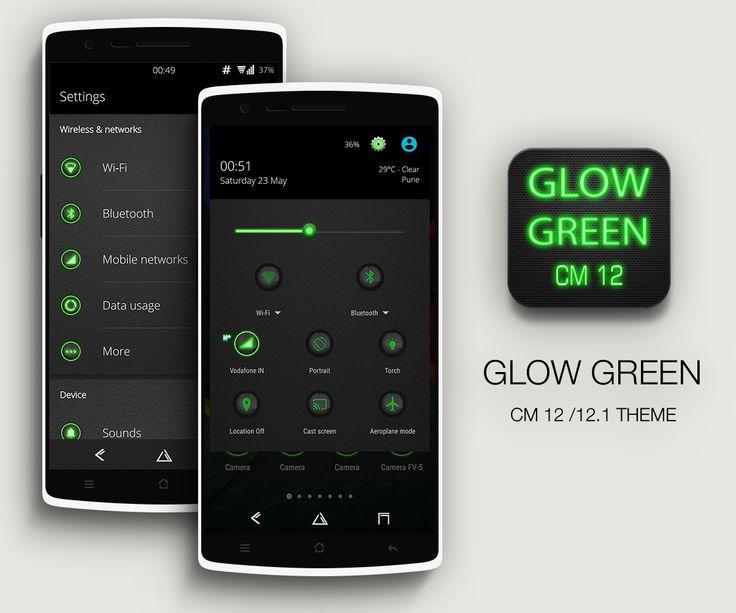 Martes 01 de Marzo 2016.  Por:Yomar Gonzalez  AndroidfastApk  Glow Green CM13 CM12.x Theme v1.9 Requisitos: 5.0 Descripción general: Tema de Green Glow CM12 está diseñado para funcionar con el motor del tema CyanogenMod. También funciona en casi todos los derivados cm como Blisspop euforia candy5 Resurrección Remix Validus etc. Resplandor verde es una adición a nuestra serie de temas Glow. Glow es una combinación única de detalles oscuros y de color verde con botones realistas de efecto…