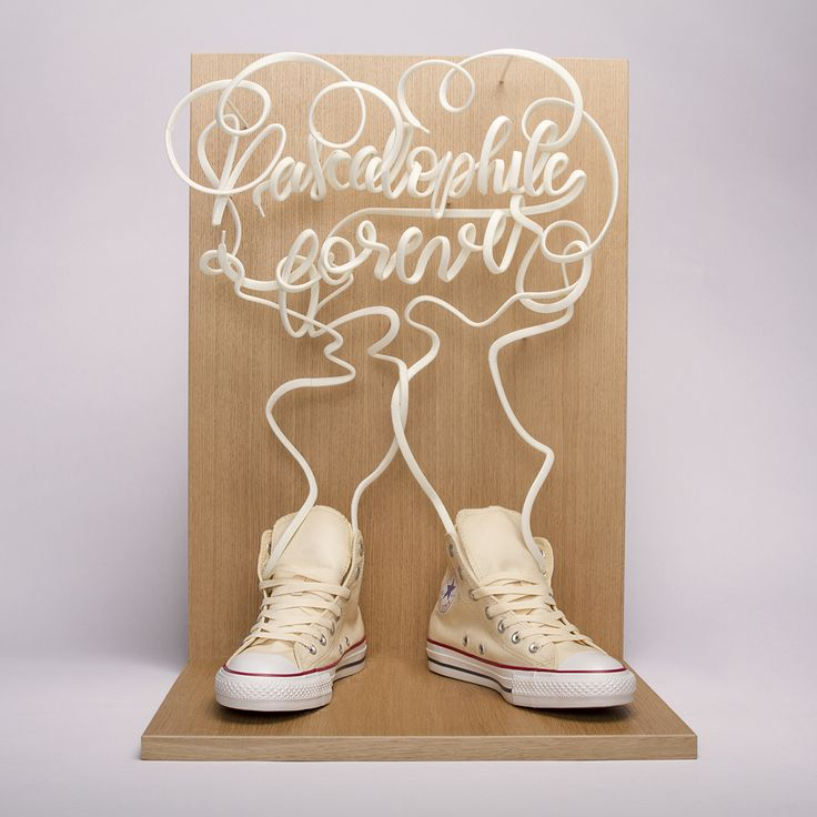 3D Printed Type + video - Converse Made by you on Behance