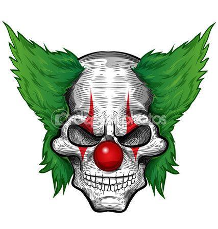 Череп клоуна, изолированные на белом backgroun — Stock Illustration #67157807