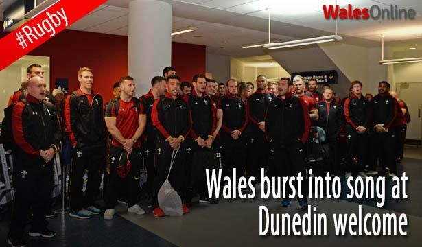 Wales burst into song at Dunedin welcome