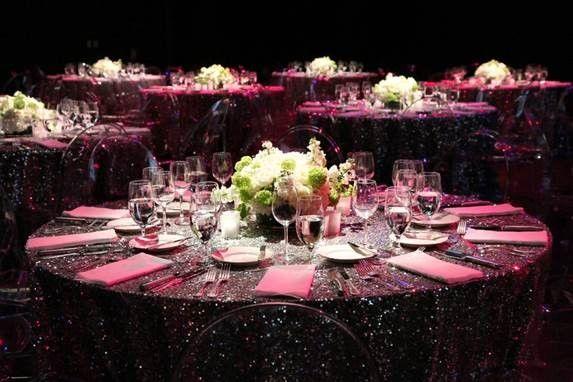 Regal in purple, corporate event