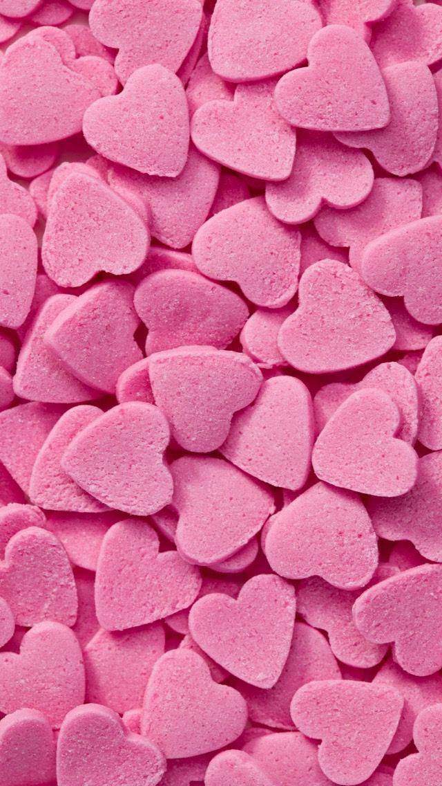 Wallpaper Iphone Pink Heart Heart Wallpaper Pink