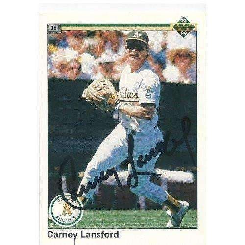 1990, Carney Lansford, Oakland A's, Signed, Autographed, Upper Deck Baseball Card, Card # 253, a COA Will Be Included