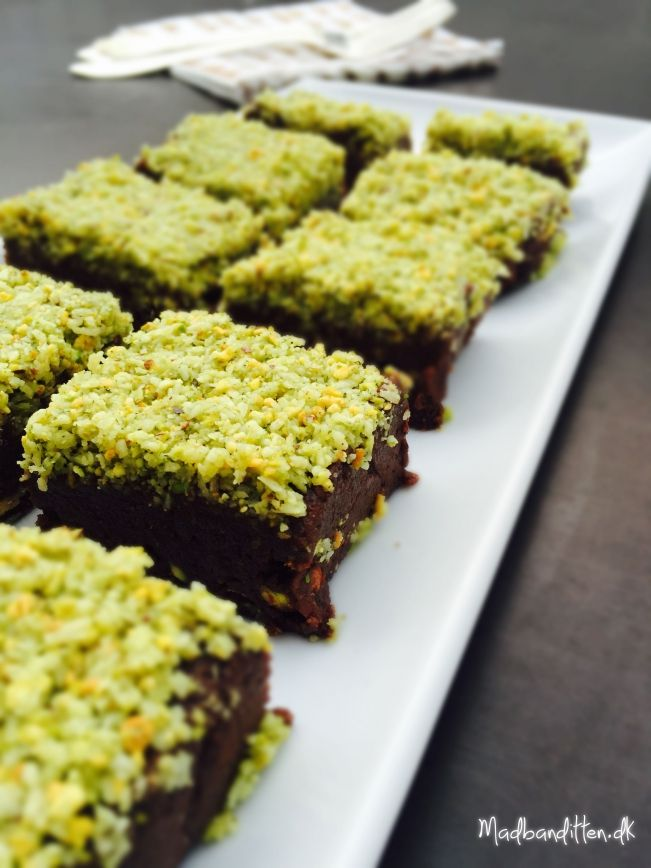 Raw brownie med mint