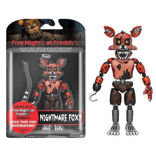 Five Nights at Freddy's Nightmare Foxy 5-Inch Action Figure - Funko - Five Nights at Freddys - Action Figures at Entertainment Earth