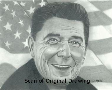Drawing: Ronald Reagan