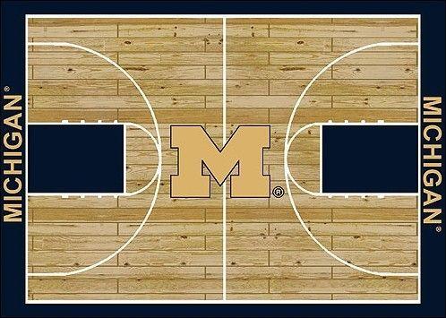 College Court NCAA Michigan Novelty Rug