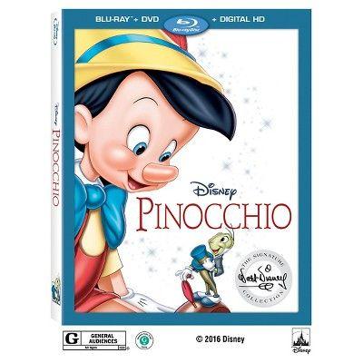 Pinocchio: Walt Disney Signature Collection (Blu-ray + DVD + Digital) : Target