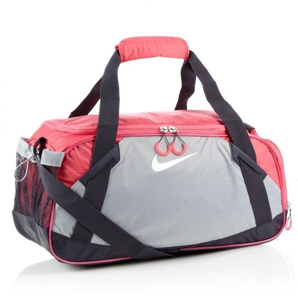 Nike pink Varsity holdall (37 AUD) ❤ liked on Polyvore featuring bags, luggage, sport, accessories, nike and other sports