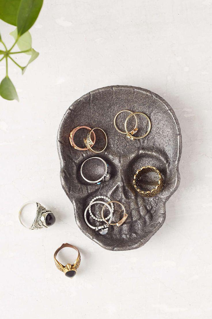 Cast Iron Skull Catch-All Dish