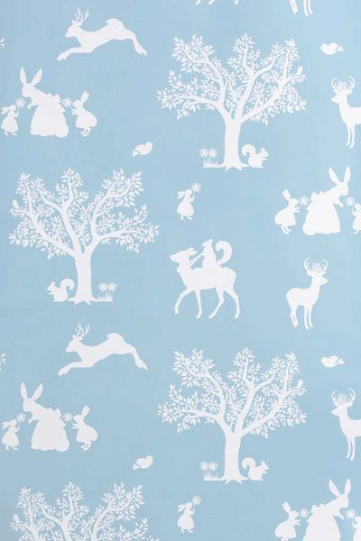 Children s Wallpaper - Enchanted Forest - but in cream or pink???